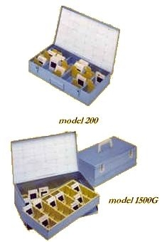 SPI Supplies Slide Storage Boxes, Metal, Model 240
