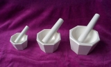 SPI Supplies Brand Zirconia Mortar and Pestle Set 60x50x20mm